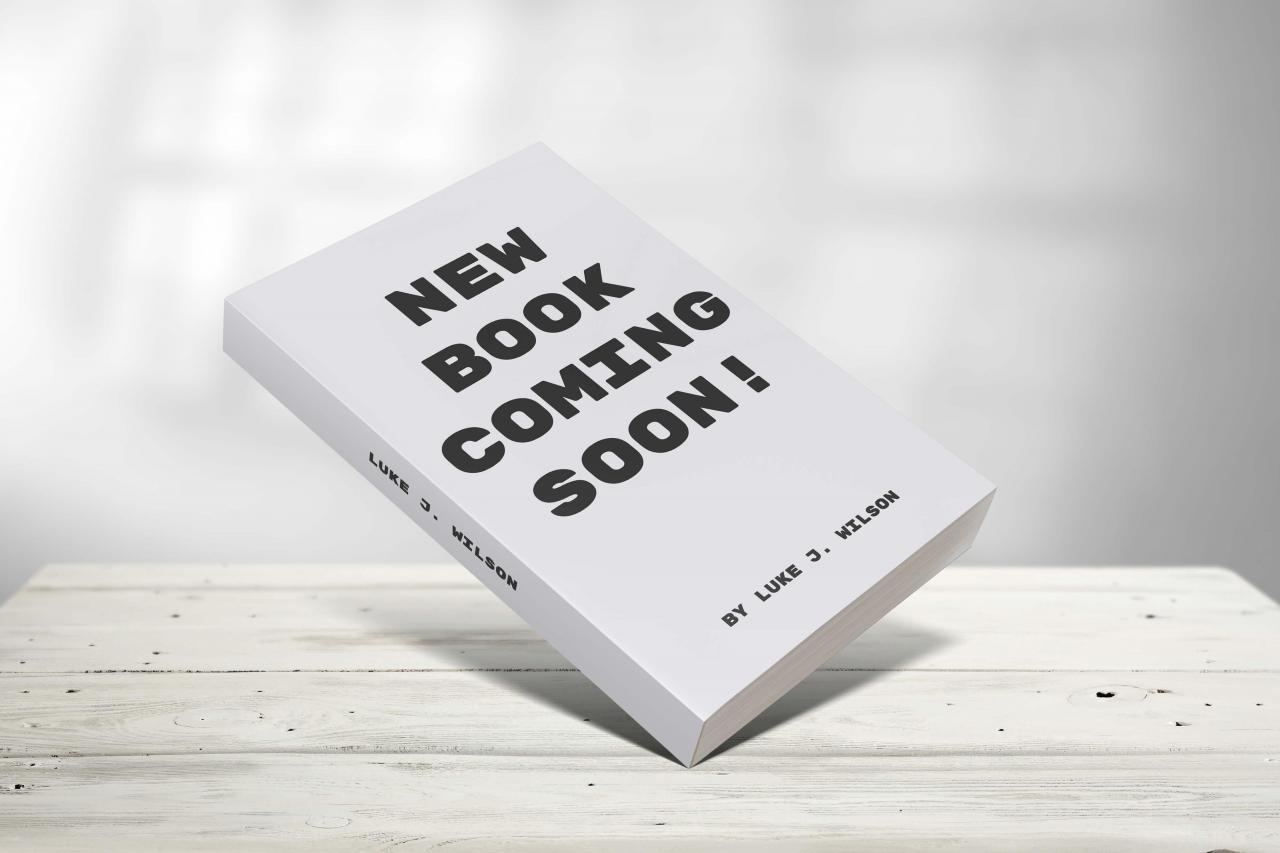 Book cover mockup saying